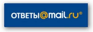 Лого сайта - ответы мейлру
